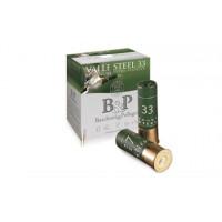 CARTOUCHES B&P VALLE STEEL MAGNUM HV CALIBRE 12 - 33 G - BJ - PB 2/0