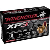 5 CARTOUCHES BALLE WINCHESTER 12/70 SABOT SLUG SUPREME ELITE XP3