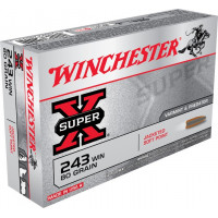 BALLES WINCHESTER SUPER X POWER POINT CALIBRE 243 WIN 80 GR