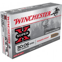BALLES WINCHESTER SUPER X POWER POINT CALIBRE 30-06 180 GR