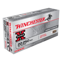 BALLES WINCHESTER SUPER X POWER POINT CALIBRE 22-250 REM 55 GR