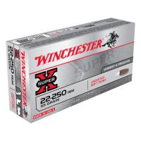 BALLES WINCHESTER SUPER X POWER POINT CALIBRE 22-250 REM 55 GR