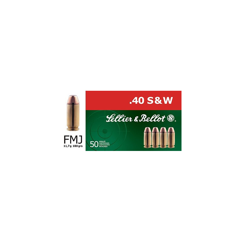CARTOUCHES SELLIER & BELLOT CAL.40 SMITH & WESSON FMJ PAR 50
