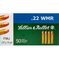 BALLES SELLIER & BELLOT FMJ CALIBRE 22 WMR 40 GR