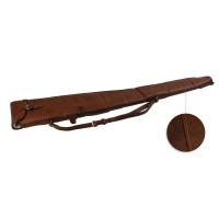 FOURREAU FUSIL CUIR MARRON 130 CM