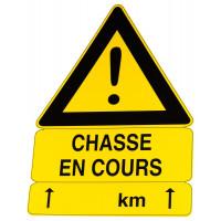 PANNEAU CHASSE EN COURS TRIANGULAIRE AKILUX 100 X 70 CM