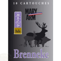 CARTOUCHES MARY ARM BRENNEKE CALIBRE 20 - 24G - PB 2