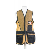 GILET DE TIR SHOOT OFF SPORTING BLEU MARINE FILET OR