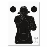 CIBLE KRUGER POLICE SILHOUETTE NOIRE SUR FOND BLANC UNITE