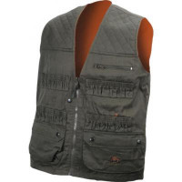 GILET DE TRAQUE SOTEXTRA REVERSIBLE VERT ORANGE-4XL