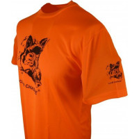 TEE SHIRT CLUB CHASSE ORANGE SANGLIER
