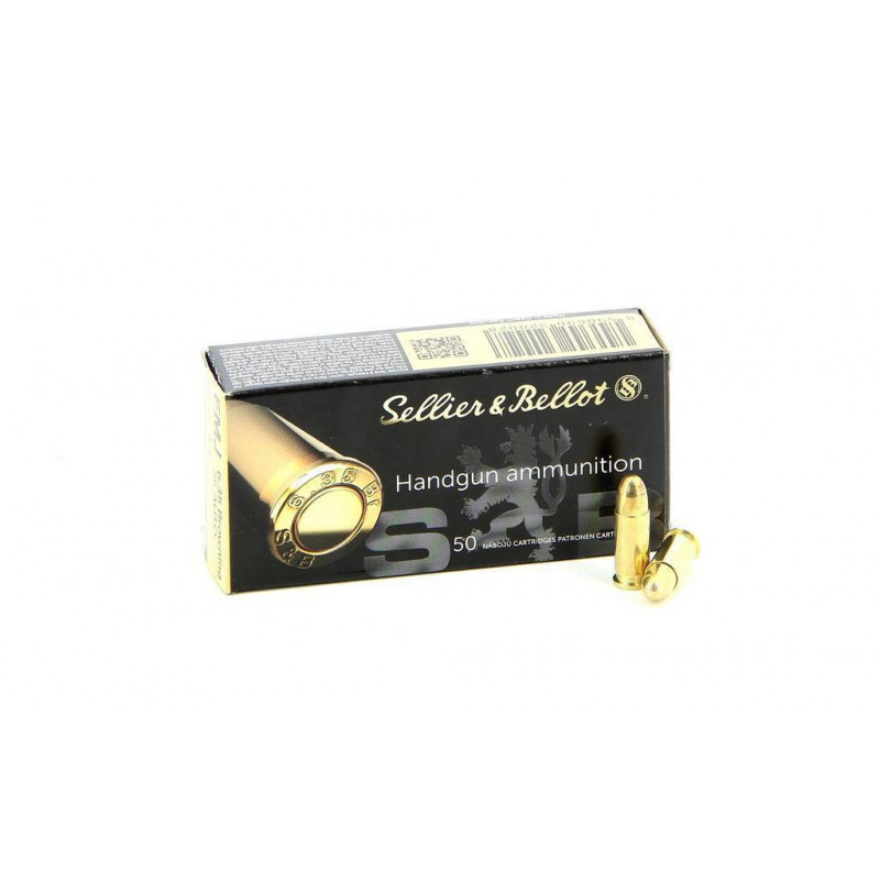 CARTOUCHES SELLIER & BELLOT CAL.6.35 BROWNING FMJ (25 ACP) PAR 50