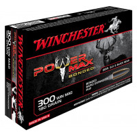 BALLES WINCHESTER POWER MAX BONDED CALIBRE 300 WM 180 GR
