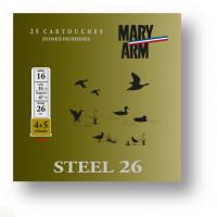 CARTOUCHES MARY ARM STEEL CALIBRE 16 - 26 G - BJ - PB 4+5