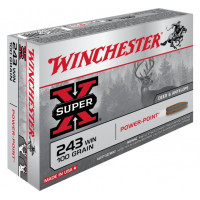 BALLES WINCHESTER SUPER X POWER POINT CALIBRE 243 WIN 100 GR