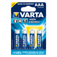 BLISTER DE 4 PILES VARTA LR 03 AAA 1.5V HIGH ENERGY