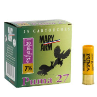 CARTOUCHES MARY ARM PUMA 27 CAL 20 BJ PLOMB 7.5 X25