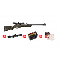 PACK CARABINE GAMO GREEN SHADOW DX GREEN CALIBRE 4.5 - 19.9 JOULES