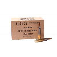 MUNITIONS GGG EN CAISSE MILITAIRE CAL 223 REM 55 GR PAR 1000