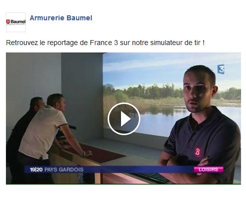 Reportage France 3 : Simulateur de Tir